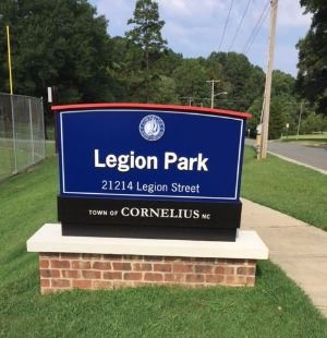Legion Park Entrance Sign