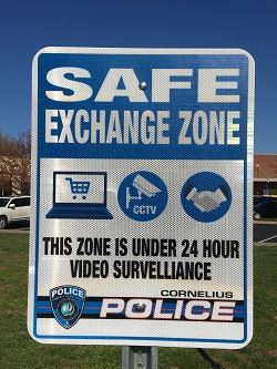Safe Exchange Zone Sign