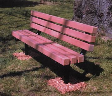 Steel/Wood Bench