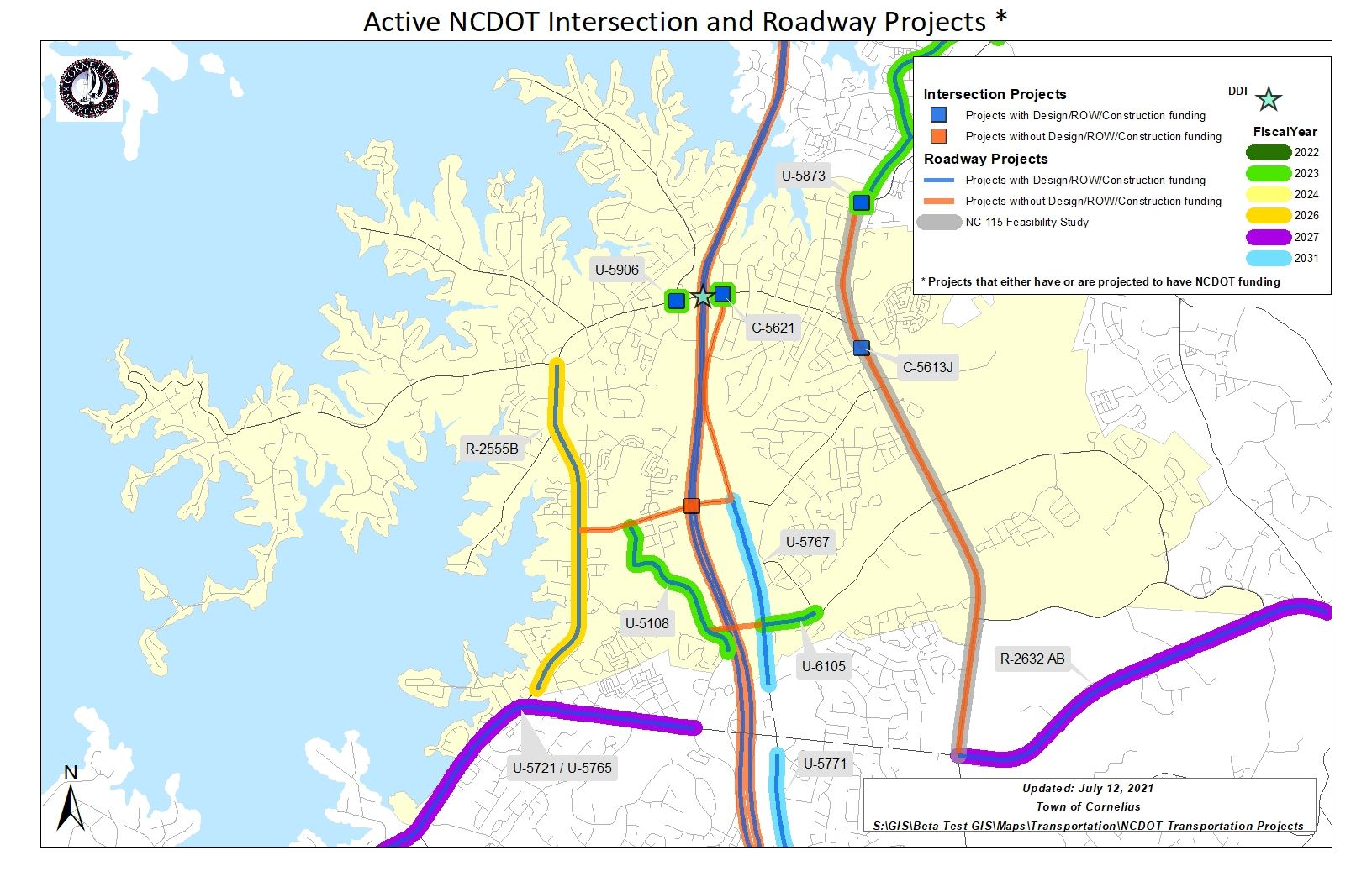 Active NCDOT Projects