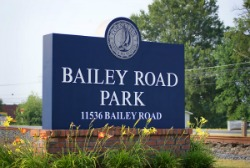 Entrance Sign for Bailey Road Park